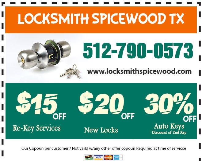 Locksmith Spicewood TX Coupon